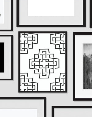Geometric Abstract, Wall Art, Artwork, Home Decor, Modern Print, Print Art, Abstract Art, Black White, Decorations, Digital Print
