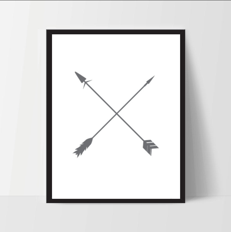 Printable, Crossings Arrows, Wall Art, Artwork, Home Decor, Modern Print, Print Art, Nature Art, Living Room, Digital Print, 12x16