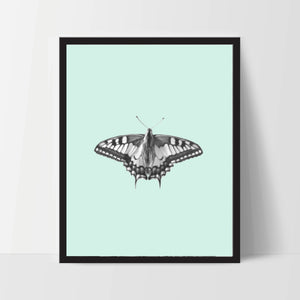 Butterfly with Aqua, Printable, Wall Art, Artwork, Home Decor, Modern Print, Print Art, Abstract Art, Color, Decorations, Digital Print