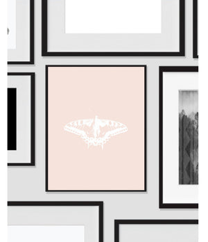 Butterfly with Coral Pink, Printable, Wall Art, Artwork, Home Decor, Modern Print, Print Art, Nature Art, Color, Decorations, Digital Print