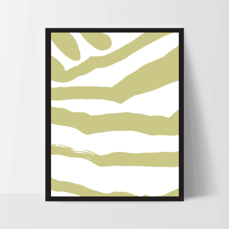 Abstract Zebra, Wall Art, Artwork, Home Decor, Modern Print, Print Art, Instant Download, Mustard Yellow, Nursery, Baby, Digital Print