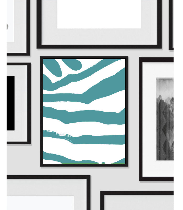 Abstract Zebra, Wall Art, Artwork, Home Decor, Modern Print, Print Art, Instant Download, Blue, Nursery, Baby, Digital Print