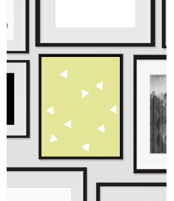 Triangle Wall Print, Yellow White, Artwork, Home Decor, Modern Contemporary, Print Art, Instant Download, Boho, Nursery, Baby, Digital