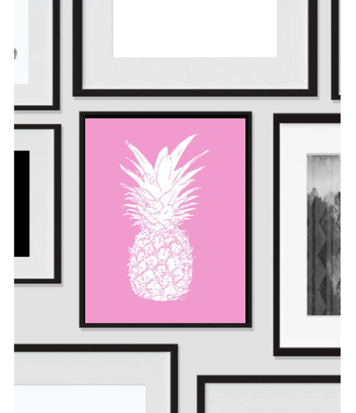 Pink Pineapple, Wall Art, Artwork, Home Decor, Modern Print, Print Art, Abstract Art, Wall Decor, Decorations, Digital Print