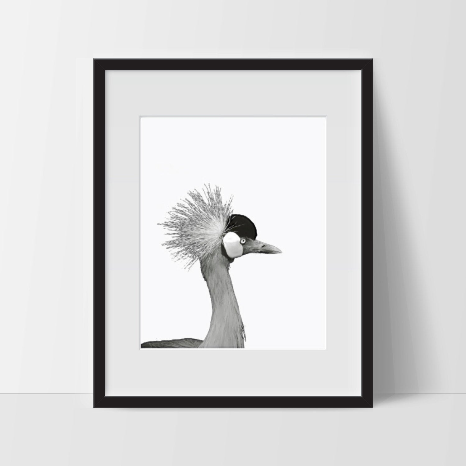 Art Print, Dramatic Bird Art, Printable, Digital Print, Bird Print, Wall Art, 8x10, Decorations, Bird, Black and White, Art