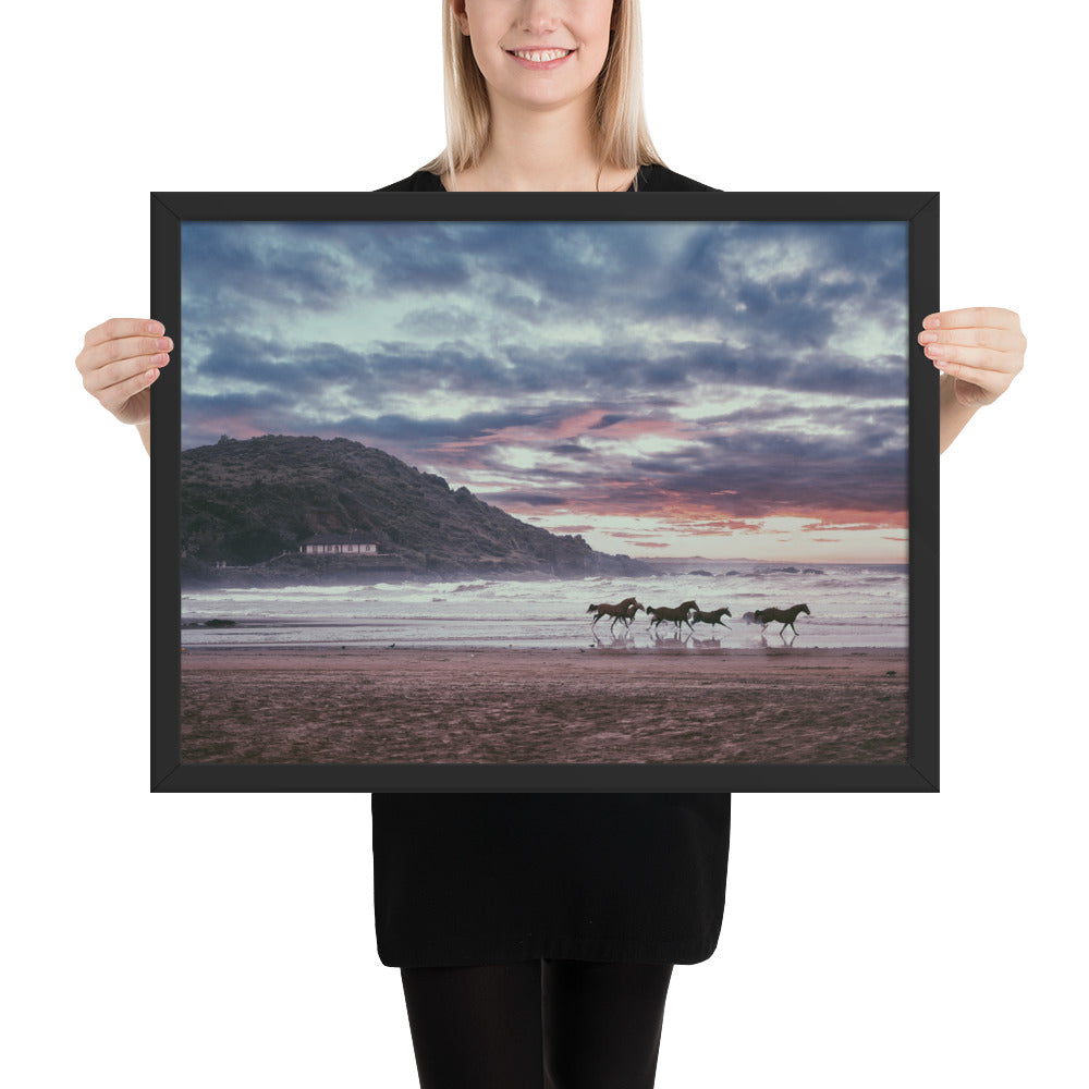 Space of Peace Horse Framed photo paper poster
