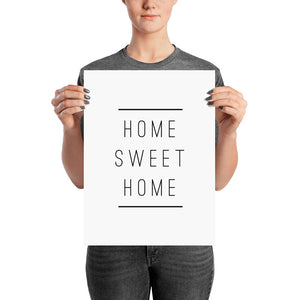 Home Sweet Home Simple Poster