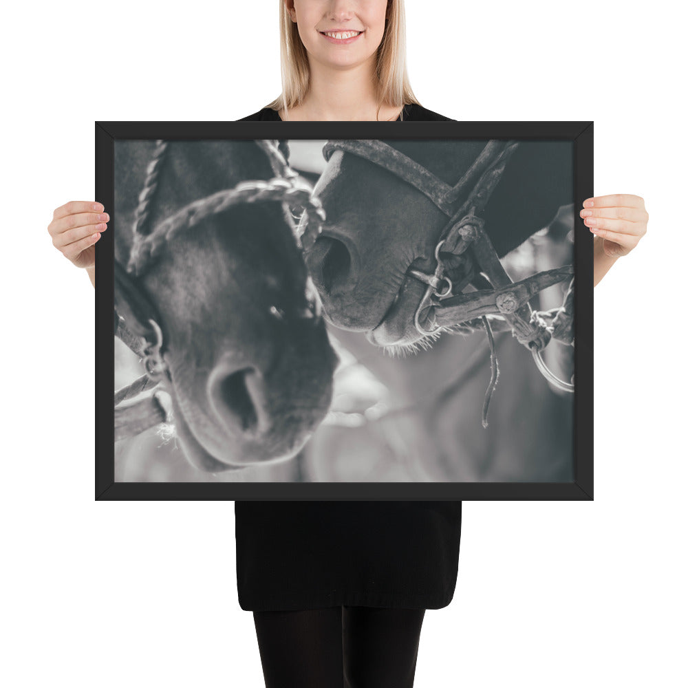 Automatic Self Horse Framed photo paper poster