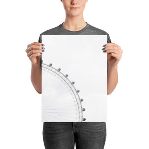 Vision of Transparent Ferris Wheel Photo Paper Poster