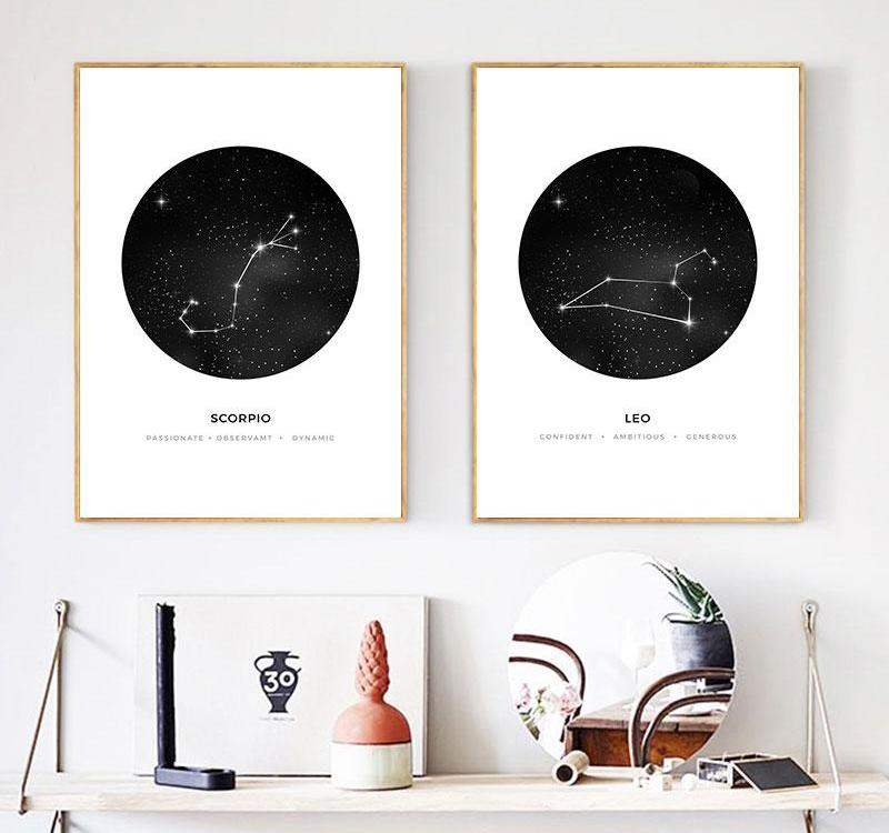 Constellation Wall Art Canvas Poster Prints Astrology