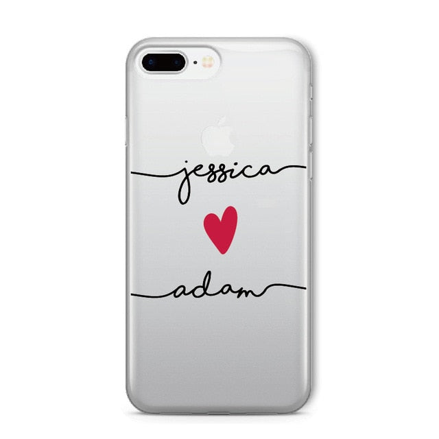 Custom Name Text Soft Clear Phone Case