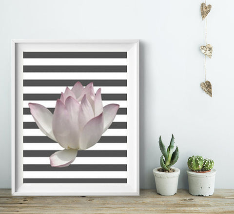 Flower Wall Art, Home Decor Ideas, Unframed - Ink Print Art  - 1