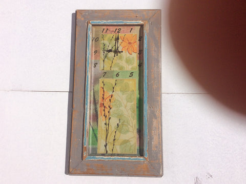 Rustic Frame In A Light Putty Grey With Water Colored Flowers
