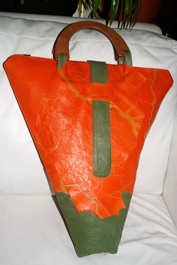 Queen Tiye handbag-Orange/green