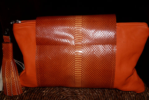 Ellen Craft-clutch handbag in orange/orange