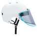 BOUCLIER visor with Cerulean Blue Trim