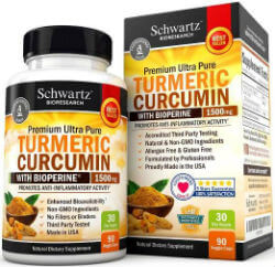 Turmeric Curcumin with Bioperine 1500mg. Highest Potency Available. Premium Pain Relief & Joint Support with 95% Standardized Curcuminoids. Non-GMO, Gluten Free Turmeric