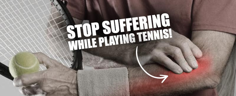 stop suffering from playing tennis