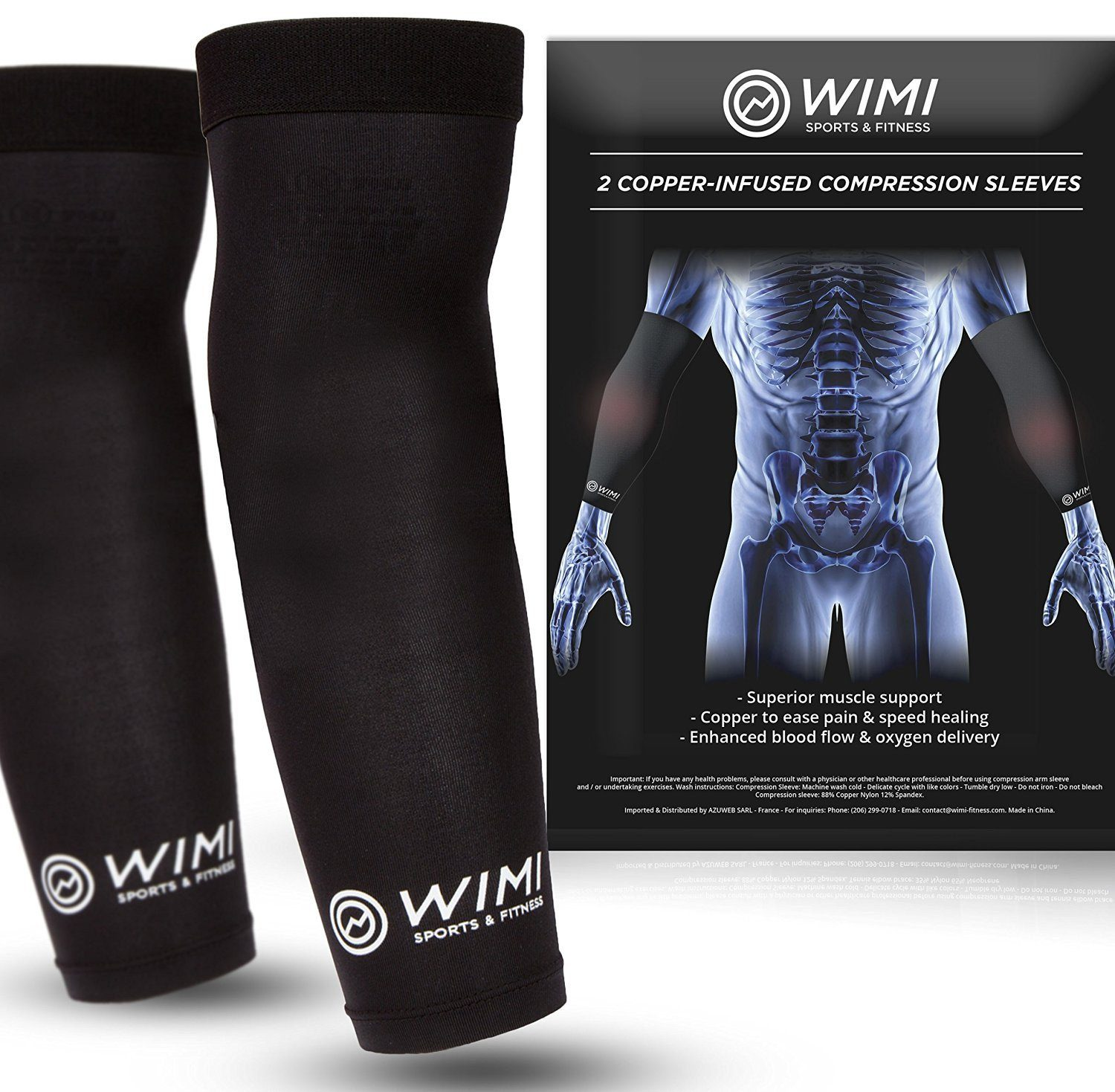 Copper-Infused Compression Sleeves 2-Pack
