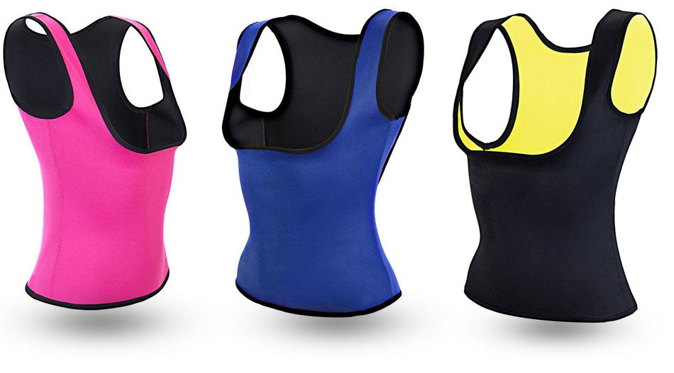 3X The Hot Shaper Plus Waist Trainer Blue Yellow Pink Bundle