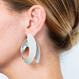 Silver Caracole earrings