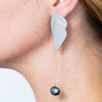 The Terraced Pearl Earring in Silver