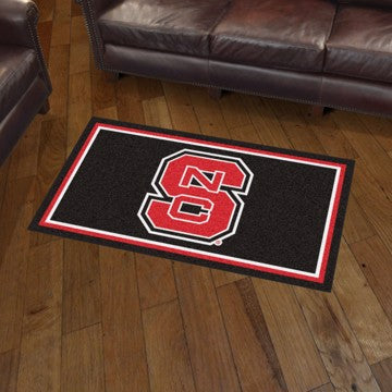 NCAA NC State Wolfpack LOGO 3 X 5 Ft. Plush Area Rug - Bed, Bath, And My Team