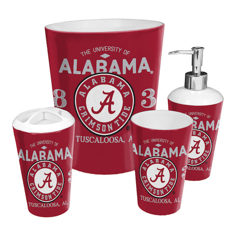 NCAA Alabama Crimson Tide 4 Piece Accessory Bathroom Set - Bed, Bath, And My Team