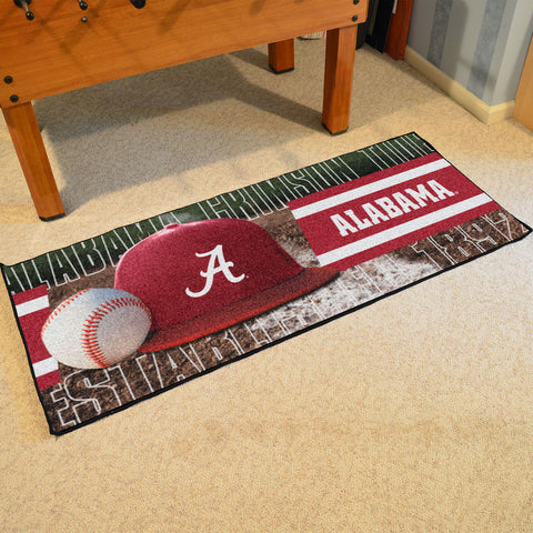 NCAA Alabama Crimson Tide Baseball Logo Carpet Runner Rug - Bed, Bath, And My Team