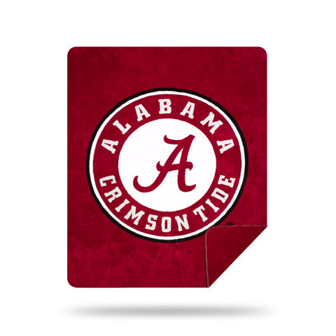 NCAA Alabama Crimson Tide 60 x 72 DENALI Silver Knit Throw Blanket - Bed, Bath, And My Team