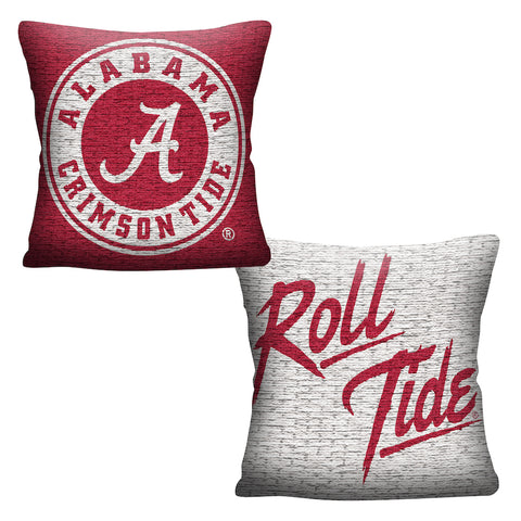 NCAA Alabama Crimson Tide INVERT Throw Pillow - Bed, Bath, And My Team