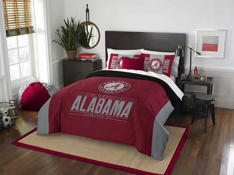 NCAA Alabama Crimson Tide Queen/Full Comforter and Sham Set - Bed, Bath, And My Team