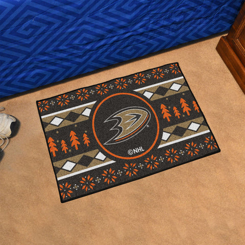 Anaheim Ducks Holiday Sweater Rug