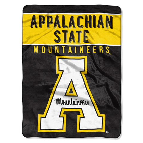 NCAA Appalachian State Mountaineers 60 x 80 Large Plush Raschel Throw Blanket - Bed, Bath, And My Team