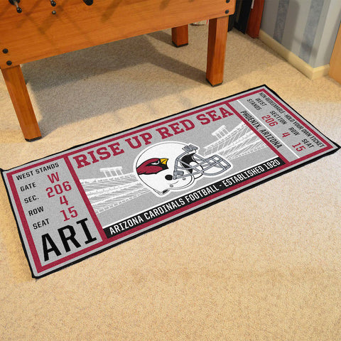 Arizona Cardinals Football Ticket Carpet Runner Rug