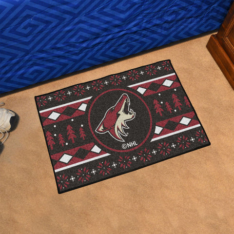 Arizona Coyotes Holiday Sweater Rug
