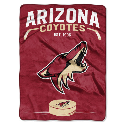 Arizona Coyotes large plush blanket