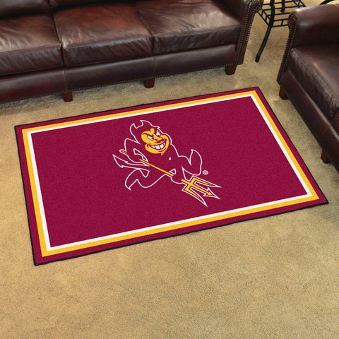 NCAA Arizona State Sun Devils SPARKY 4 X 6 Ft. Area Rug - Bed, Bath, And My Team