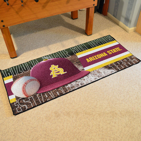 NCAA Arizona State Sun Devils Baseball Logo Carpet Runner Rug - Bed, Bath, And My Team