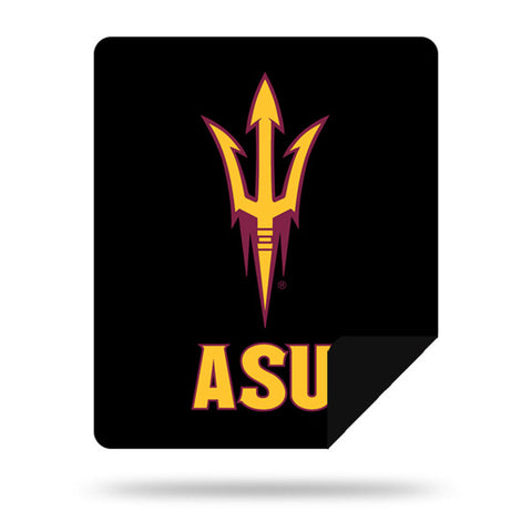 NCAA Arizona State Sun Devils 60 x 72 DENALI Silver Knit Throw Blanket - Bed, Bath, And My Team