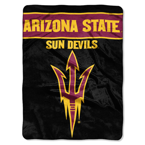 NCAA Arizona State Sun Devils 60 x 80 Large Plush Raschel Throw Blanket - Bed, Bath, And My Team