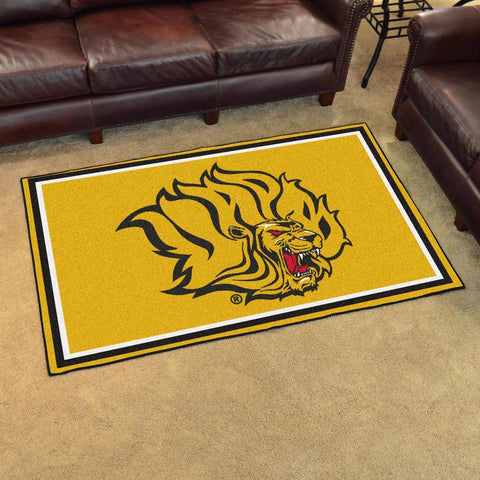NCAA Arkansas Pine Bluff Golden Lions 4 X 6 Ft. Area Rug - Bed, Bath, And My Team