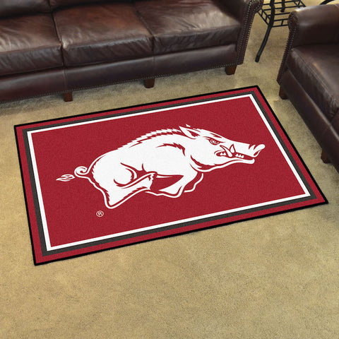 NCAA Arkansas Razorbacks 4 X 6 Ft. Area Rug - Bed, Bath, And My Team