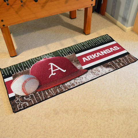 NCAA Arkansas Razorbacks Baseball Logo Carpet Runner Rug - Bed, Bath, And My Team