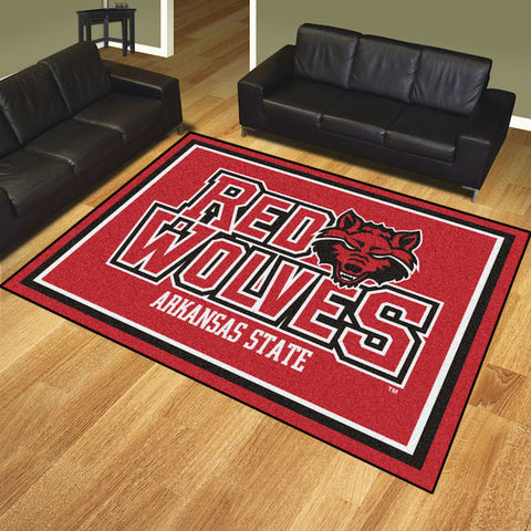 NCAA Arkansas State Red Wolves 8 X 10 Ft. Area Rug - Bed, Bath, And My Team