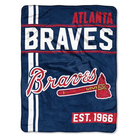 MLB Atlanta Braves Micro Raschel Throw - Bed, Bath, And My Team
