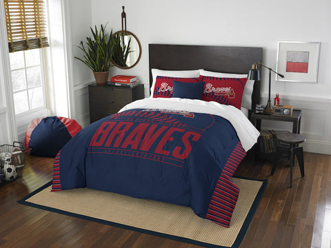 MLB Atlanta Braves Queen/Full Comforter and Sham Set - Bed, Bath, And My Team