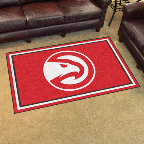 NBA Atlanta Hawks 4 X 6 Ft. Area Rug - Bed, Bath, And My Team