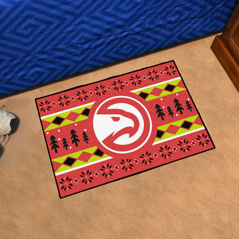 NBA Atlanta Hawks CHRISTMAS SWEATER Starter Rug - Bed, Bath, And My Team