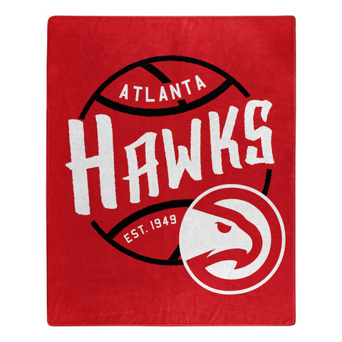 NBA Atlanta Hawks 50 x 60 Jersey Raschel Throw Blanket - Bed, Bath, And My Team